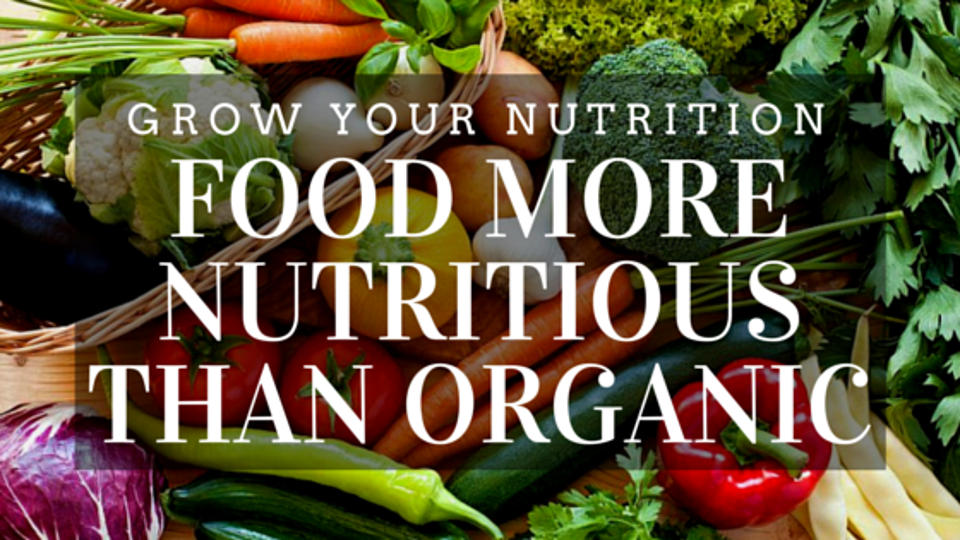 Grow Your Nutrition: Food More Nutritious than Organic